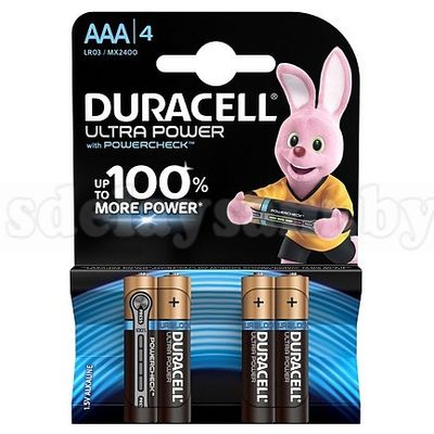 Элемент питания  DURACELL UltraPower LR03/MX2400 4BP ААА