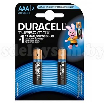 Элемент питания  DURACELL TurboMax LR03/MX2400 4BP ААА